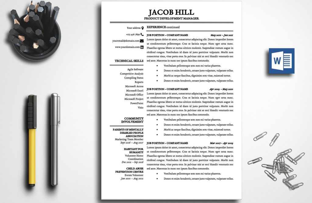 resume-template-jacob-hill-2-page-b-