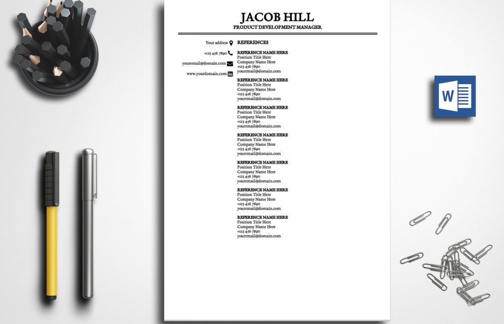 resume-template-jacob-hill-references-