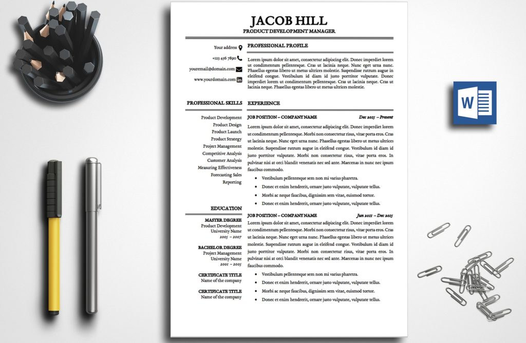 resume-template-lily-taylor-2-page-a-