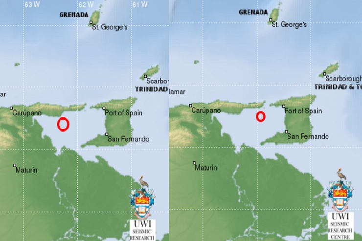 two more earthquakes strike off trinidad  u2013 st lucia