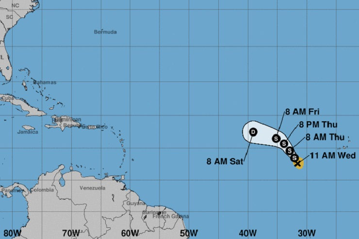 Caribbean Tropical Storm Nadine Forms But Forecasters Don